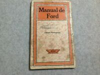 Very Rare Ford Manual Portuguese Edition by Ford Motor Company U.S.A 1920's / 30
