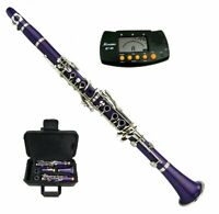New Bb Purple Clarinet with Case and Free Metro Tuner Ship from USA