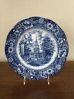 Staffordshire Ironstone LIBERTY BLUE INDEPENDENCE HALL Dinner Plate