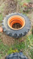 Allis Chalmers B C tractor 12.4 x 24quot; traction king armstrong tire tires rims