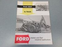 Ford 620, 820 & Fordson Major Tractor & Attachment Brochure                   lw