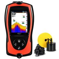 Best Portable Fish Finder Wired Sonar Sensor Transducer 328 Feet Water Depth LCD