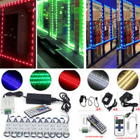 US LED Window Store Front Lights Module 10~500ft Strips with power supply+Remote