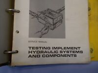 CAT Caterpillar testing implement hydraulic system and components manual
