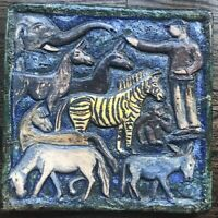 Gertrud Kudielka L. Hjorth Denmark Pottery Stoneware Wall Tile Signed Rare