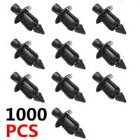 1000 Pcs 6mm Hole Dia Plastic Push In Type Rivets Fender Fastener Pin Clips ATV
