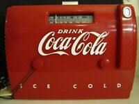 Coca-Cola Cooler Radio With AM/FM Cassette Player QTR-1949 1988 Unused Old Stock