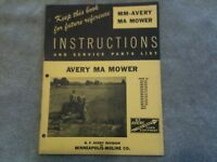 Minneapolis-Moline - Avery model MA tractor mower for BF sales brochure