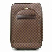 25fe658c5897 Louis Vuitton Damier 60 Rolling Luggage Trolley Brown WeekendTravel Bag  870570