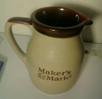 RARE MAKERS MARK WHISKEY ADVERTISING PITCHER POTTERY Numbered Bottom EUC