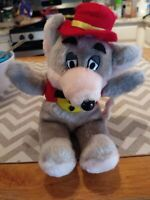 "Vintage Chuck E Cheese Mouse 9"" Plush 1992 Showbiz Pizza Time Stuffed Doll"