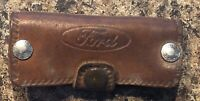 Vintage FORD MOTOR CO. Leather Promo KEY HOLDER FOB by West Chest Ford Co.