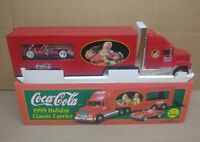 1999 Coca Cola Classic Holiday Carrier Toy Truck W/ 1953 Corvette