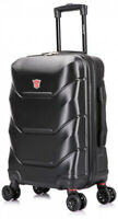 Travel Hardside Spinner Suitcase Lightweight Carry On Travel Luggage Black NEW