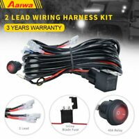 2 Lead Wiring Harness Kit 12V 40A ON OFF Switch For Led Spot Light ATV OFFROAD