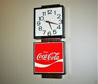 Vintage Electric Coke Clock. Dated July 14 1978. Works fine. Quiet. Coka Cola