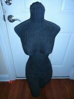 Vintage Womens Female Wicker Rattan Manequin Dress Form Woven Torso Body Display