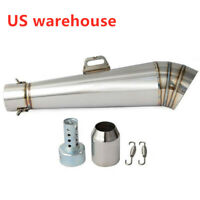 Latest Exhaust Muffler Pipe w/DB Killer for Motorcycle ATV Exhaust 38~51mm US