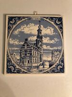 Blue Delft Amsterdam Tile Hand Painted Made in Holland
