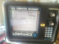 Vintage Lowrance X-15 Computer Sonar Graph Recorder Depth/Fish Finder