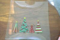 Pampered Chef Clear Glass Holiday Serving Platter Christmas 12