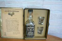 Jack Daniels Old No. 7 Old Time Tn. Whiskey Tin W/Original Shot Glasses