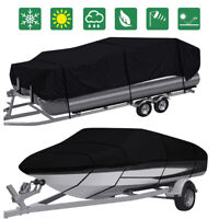 11 24ft Waterproof Heavy Duty Boat Cover Pontoon V Hull Fish Ski Bass Runabouts