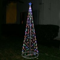 Homebrite 4' FT Multi-Color LED Light Christmas Tree Cone Indoor Outdoor 48