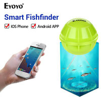 Eyoyo Smart 180ft Bluetooth Distance Wireless Sonar Fish Finder for Boat Fishing