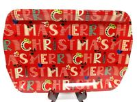 MERRY CHRISTMAS Melamine Platter Cookie Serving Tray 19