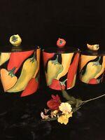 "Clay Art ""Caliente"" 3 Pc Canister Set"