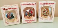 Campbell's Soup Kids Christmas Ornaments Vintage Glass Set of 3