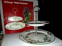 Vintage Two Tiered Christmas Platter w/Box