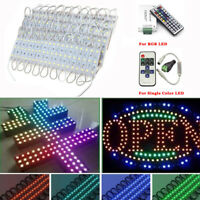 US LED Bulb Module Lights Club Store Front Window Sign Backlight Lamps + Remote