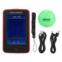 Colorful Screen Fish Finder Wireless Echo Sounder Fishing Tools Fishing Fin I8X4