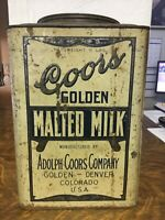 coors malted milk can antique very rare tin collectible