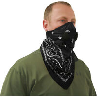 ATV Tek Black Pro Series Bandana Dust Mask - BDMBLK  ( Size One Size )