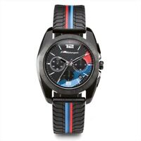 BMW Motorsport Sports Black Chronograph Multi-Dial Watch- For Men
