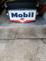 Mobil Porcelain Gas Sign Double Sided