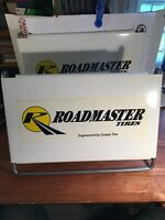 GENUINE COOPER ROADMASTERTire Display Stand Sign Heavy Duty Truck Tire USED