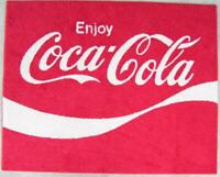 CUSTOM COKE ENJOY COCA COLA 70s LOGO 4'x 5'  HUGE AREA RUG 30 OZ SHAW CARPET