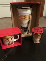 STARBUCKS NEW 2015 GOLD MERMAID SIREN TUMBLER, DEMI 3 OZ, ORNAMENT GIFT BOX SET