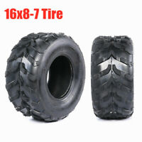 16x8-7 Knobby Tire 16x8.00-7 1687 Heavy Duty Tyre For 4 Wheeler ATV Mower Buggy