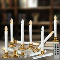 Flameless Taper Candles LED Flickering Windows Light Remote Control Timer