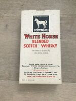 Vintage White Horse Cellar Blended Scotch Whiskey Cardboard Box 7' x 4' Box Only
