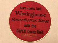 Westinghouse Advertising Hot pad Weller Appliance Co. Reading Pa