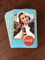 RARE World War II Coca Cola Airplane Spotter Playing Cards PINOCHLE deck