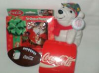Lot Coke Coca Cola Playing Cards In Holiday Tin Coaters Plush Bear Bottle Opener