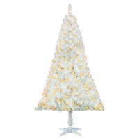 Holiday Time Pre-Lit 6.5 Madison Pine White Artificial Christmas Tree Clear