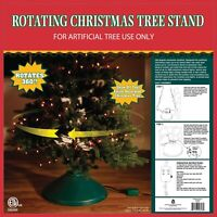 Home Holiday Christmas Artificial Tree Stand 360 Degree Rotating Easy Decorating